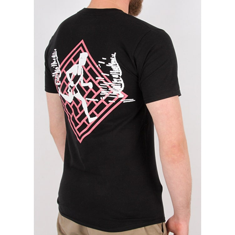 National Skateboard Co Action T shirt - Black