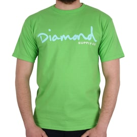 Diamond Supply Co OG Script T shirt - Green