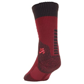Nike SB Elite Crew Socks - Team Red/Velvet Brown