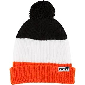 Neff Snappy Beanie - Orange/White/Black