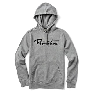 Primitive Nuevo Script Pullover Hoodie - Grey Heather