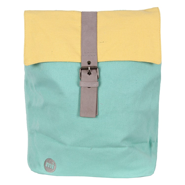 Mi-Pac Day Pack Canvas Backpack - Mint/Pastel Lemon