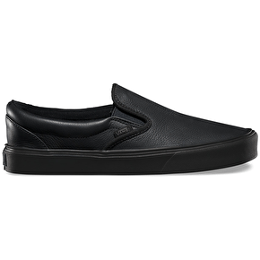 Vans Slip-On Lite Shoes - (Leather) Black/Black