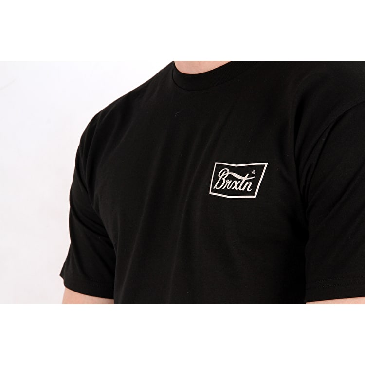 Brixton Stith Standard Short Sleeve T Shirt - Black/White