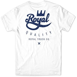 Royal Quality T Shirt - White/Blue