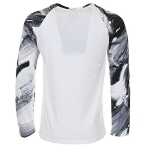 Hype Brushstroke Raglan T-Shirt - Black/White