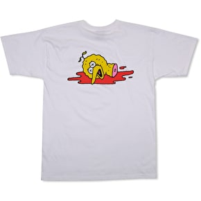 Pizza Skateboards Ride Together T-Shirt - White