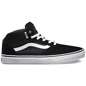 Vans Gilbert Crockett Pro Mid Shoes - Black/Asphalt/White