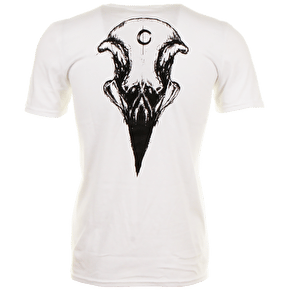 Crow T-Shirt - Big Skull White