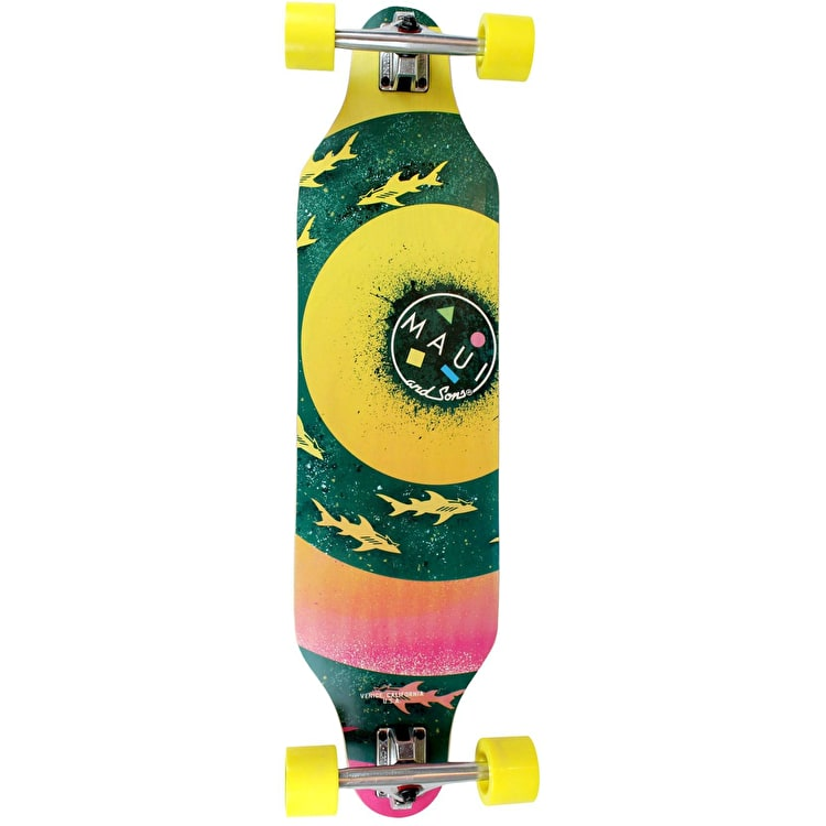 """Maui And Sons Bullseye Cut-Out Complete Longboard 36"""""""