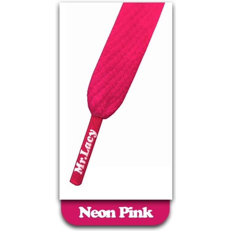Mr Lacy Smallies Shoelaces Neon Pink