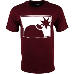 The Hundreds Forever Half Bomb T-Shirt - Burgundy