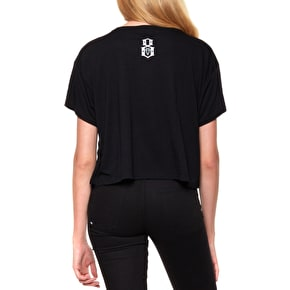 Rebel8 Sun Down Womens Crop T-Shirt - Black