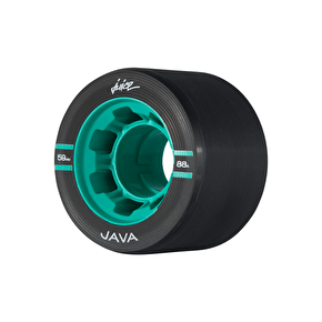 Juice Java Series Quad Roller Skate Wheels 59mm 88a - Black (pack of 4)