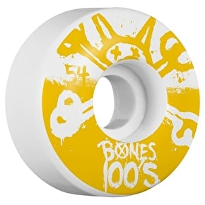 Bones OG 100'S #10 V4 Skateboard Wheels - White 54mm (Pack of 4)