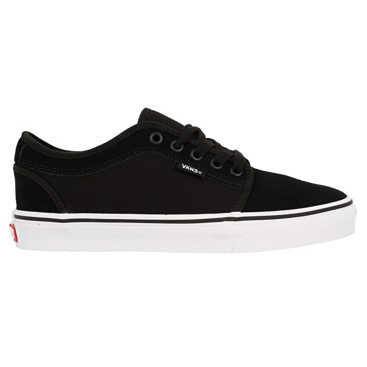 Vans Chukka Low (Suede) Skate Shoes - Black/True White