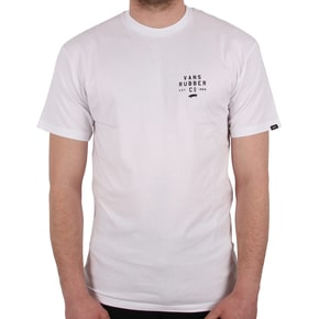 Vans Stacked Rubber T-Shirt - White