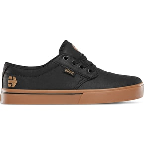 Etnies Jameson 2 Eco Kids Skate Shoes - Black/Tan