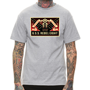 Rebel8 USSR8 T-Shirt - Heather Grey