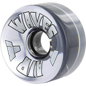 Air Waves 65mm Outdoor Quad Skate Wheels 78A- Clear 8Pkâ??