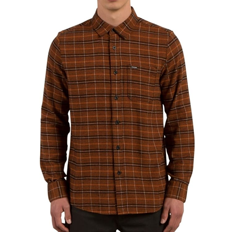 Volcom Brodus Long Sleeve Shirt - Copper