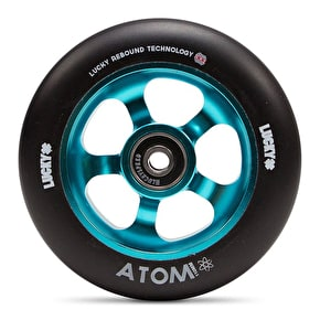 Lucky Atom 110mm Scooter Wheel - Teal/Black (Single)