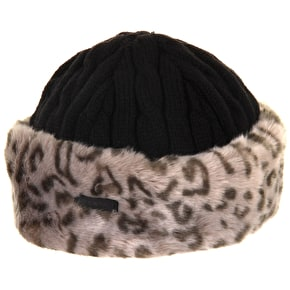 Barts Fur Cable Bandhat - Grey Leopard