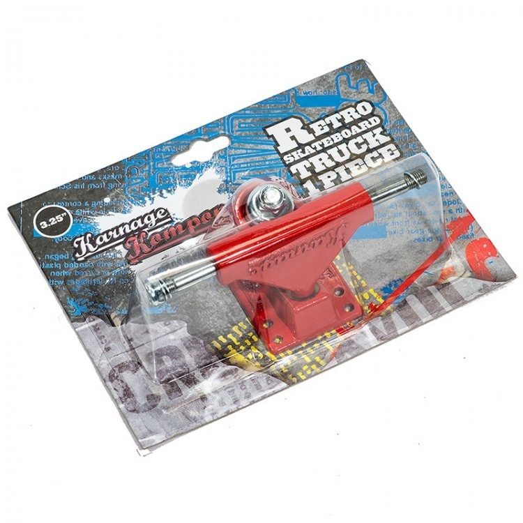 Karnage Retro Skateboard Truck - Red (Single)