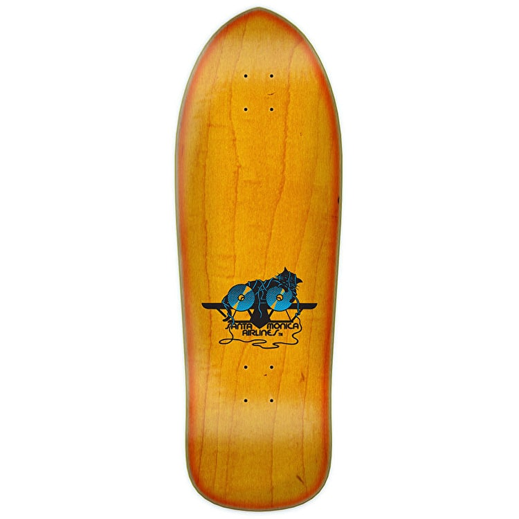 Santa Cruz Natas Kitten Reissue Skateboard Deck - Yellow Sunburst Stain 9.89""