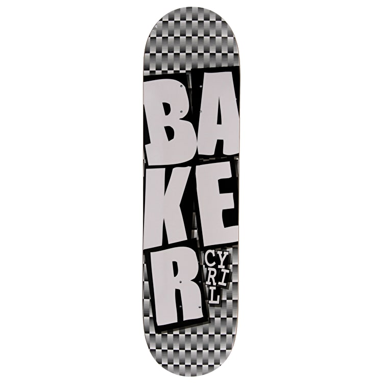Baker Stacked Checkers Skateboard Deck - Cyril 8.125""