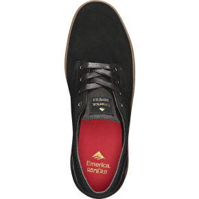 Emerica The Romero Laced Skate Shoes - Black/Gum