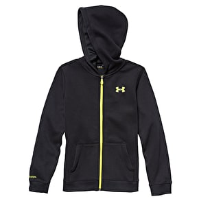 Under Armour Youth Transit Zip Hoodie - Full Black