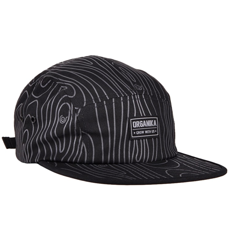 Organika Tree Camo 5 Panel Cap - Black