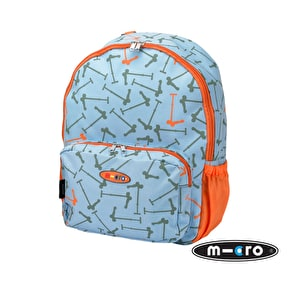 Maxi Micro Kids Rucksack - Blue Scooters