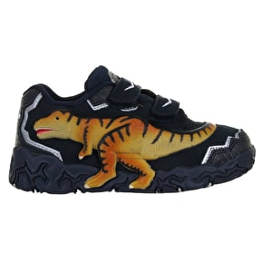 Dinosoles 3D X10 Low-Top Kids Shoes - T-Rex Navy
