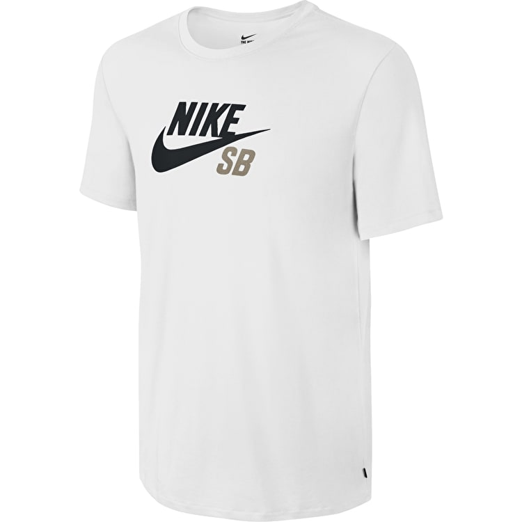 Nike SB Dri-Fit Icon Logo T-Shirt - White/Khaki