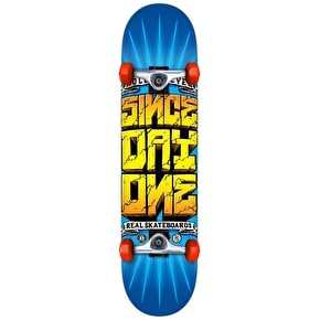 Real Since Day One Loco Complete Skateboard - Blue/Yellow 7.5
