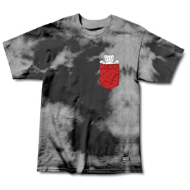 Grizzly x Spiderman Pocket T shirt - Black Tie Dye