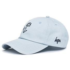 Hype Drawn Flower Dad Hat - Blue