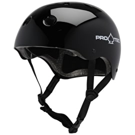 B-Stock Protec Classic Gloss Black Skate Helmet (Extra Large) (Cosmetic)