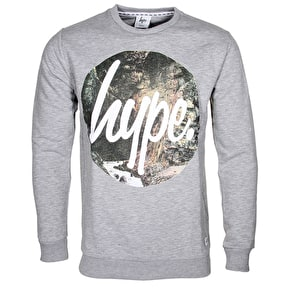 Hype Waterfall Circle Crewneck - Grey