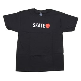 SkateHut Skate Logo Kids T shirt - Black/Red