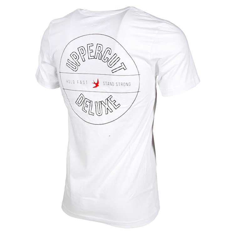 Uppercut Deluxe Overprint T shirt - White/Black Print