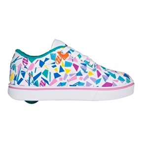 Heelys Launch - White/Teal/Multi Geo