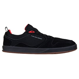 DVS Ignition SC Skate Shoes - Black/Gum/Red