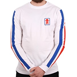 eS x Grizzly Racquet Long Sleeve T shirt - White