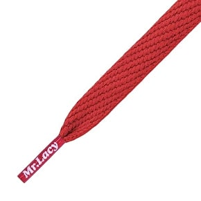Mr Lacy Shoelaces - Flatties Red