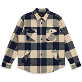 Brixton Durham Long Sleeve Flannel Shirt - Navy/Cream