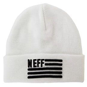 Neff Flagged Beanie - White