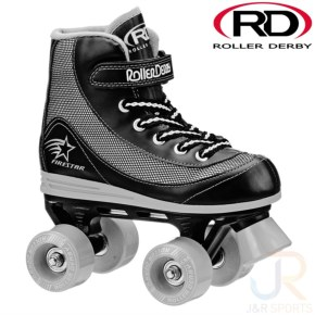 Roller Derby FireStar V2 Quad Skates - Black/Grey